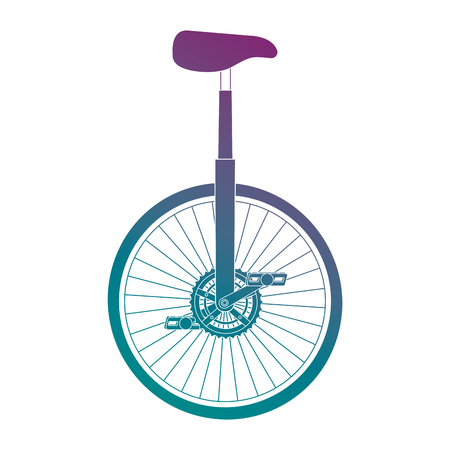 A monocycle race isolated icon vector illustration design
