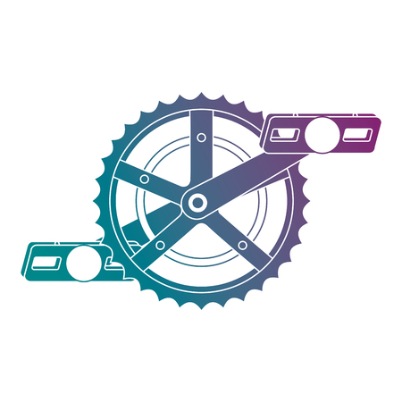 A bicycle sprocket with pedal vector illustration design