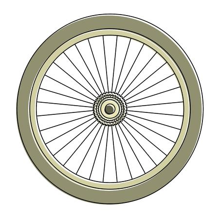 Bike wheel icon Ilustrace