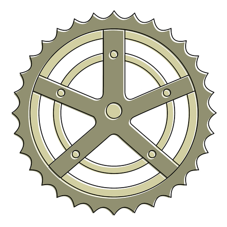 Bicycle sprocket isolated icon vector illustration design Illustration