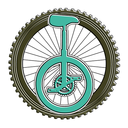 Monocle race with wheel vector illustration design Çizim