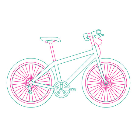sport bicycle isolated icon vector illustration design