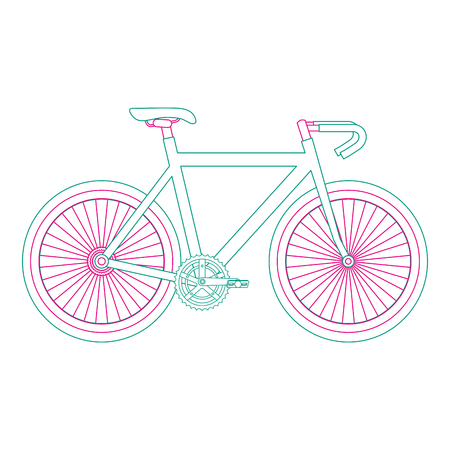 racing bicycle isolated icon vector illustration design