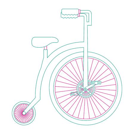 Diseño retro aislado de la ilustración del vector del icono de la bicicleta Foto de archivo - 91859816