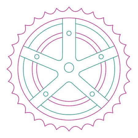 自転車スプロケット分離アイコン ベクトル イラスト デザイン  イラスト・ベクター素材