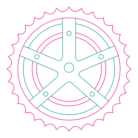 bicycle sprocket isolated icon vector illustration design Иллюстрация
