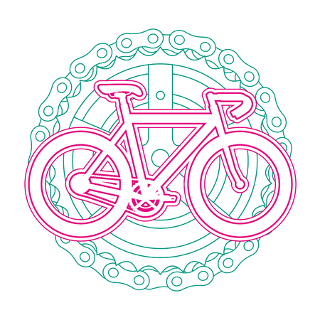 racing bicycle with chain and sprocket vector illustration design Иллюстрация