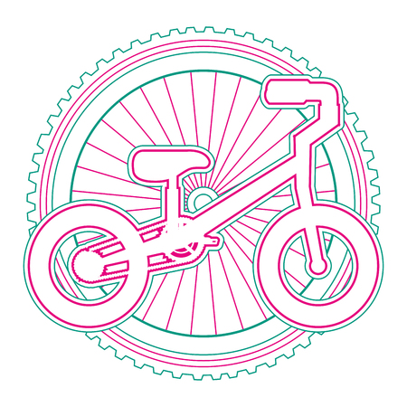 Mountain bicycle with wheel vector illustration design Stock Vector - 91860300