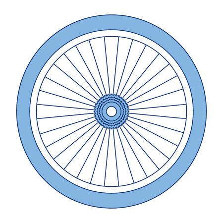 A bike wheel isolated icon vector illustration design Vetores