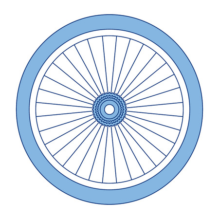 A bike wheel isolated icon vector illustration design