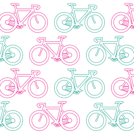 Racing bicycle pattern background vector illustration design