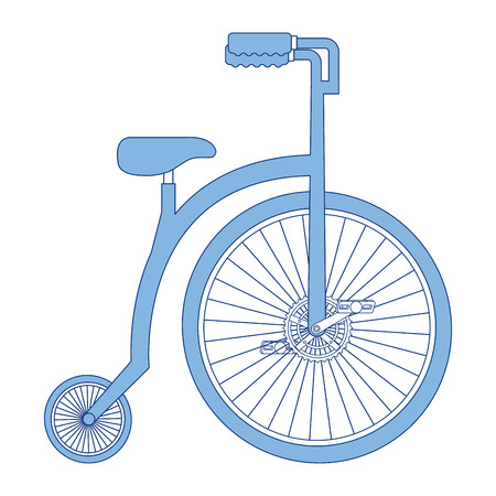 retro bicycle isolated icon vector illustration design