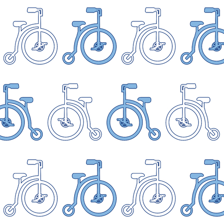retro bicycle pattern background vector illustration design