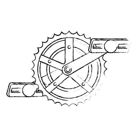 bicycle sprocket with pedal vector illustration design Иллюстрация