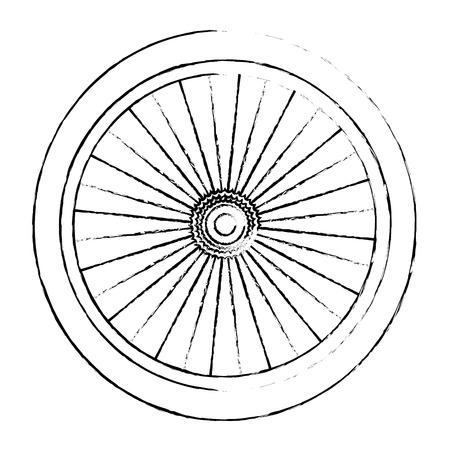 Progettazione dell'illustrazione di vettore dell'icona isolata ruota della bici Archivio Fotografico - 91862270