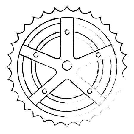 bicycle sprocket isolated icon vector illustration design Ilustração