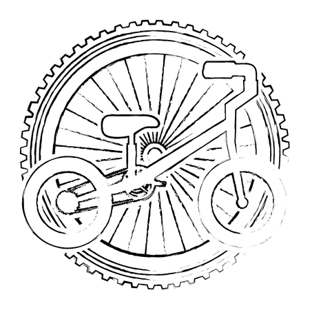 mountain bicycle with wheel vector illustration design Illustration