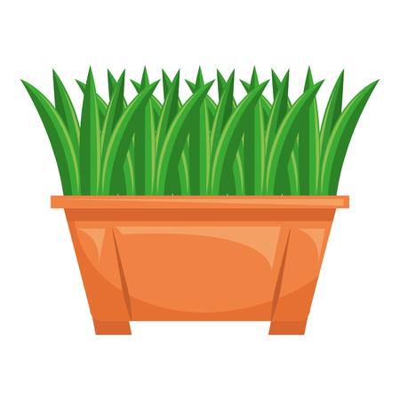 Gras in vector de illustratieontwerp van het pottenpictogram Stockfoto - 91934370