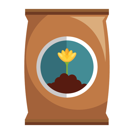 Fertilizer bag isolated icon illustration design.
