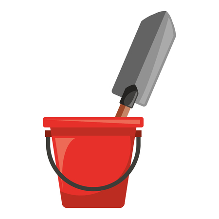 Bucket with gardening shovel vector illustration design Banco de Imagens - 91934850