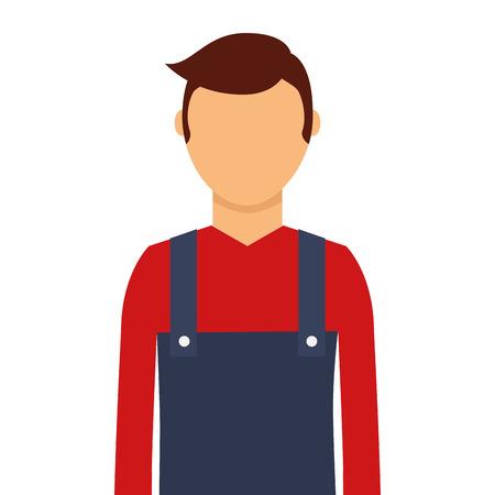 A gardener avatar character icon vector illustration design Illustration
