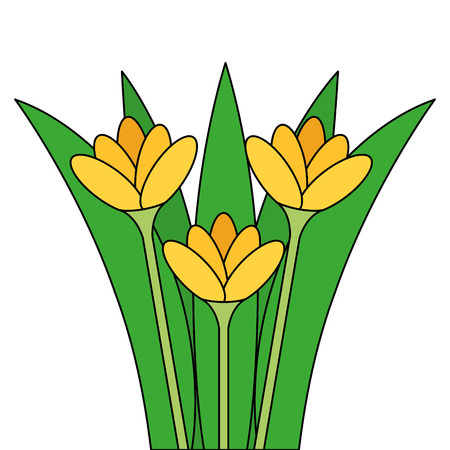 beautiful flowers cultivated icon vector illustration design Illustration