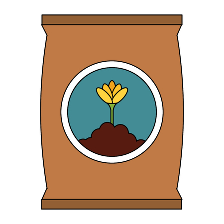 fertilizer bag isolated icon vector illustration design Stock Vector - 91870207