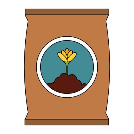 fertilizer bag isolated icon vector illustration design