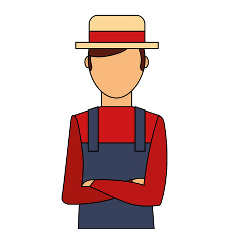 Gardener avatar character icon vector illustration design Banco de Imagens - 91935052