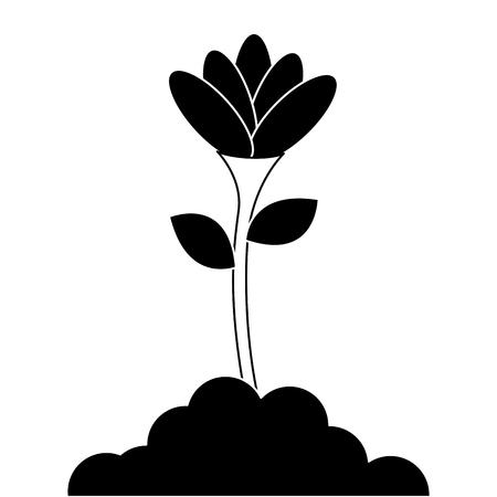 beautiful flower in grown vector illustration design Ilustração