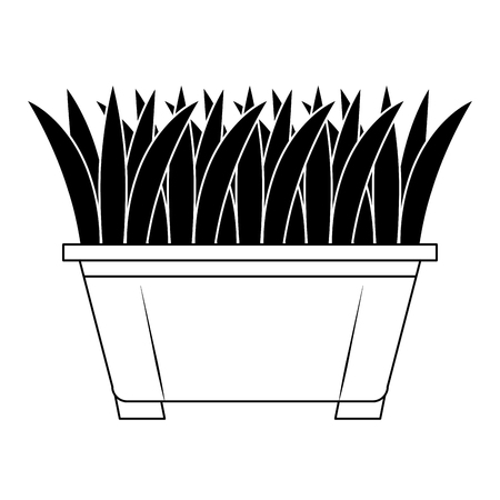 gras in vector de illustratieontwerp van het pottenpictogram Stock Illustratie