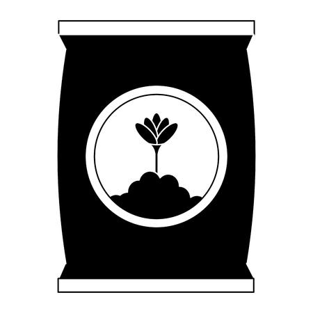 Progettazione dell'illustrazione di vettore dell'icona isolata borsa del fertilizzante Archivio Fotografico - 91870907