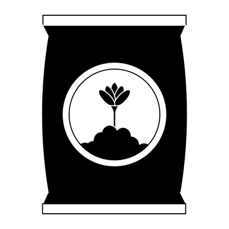 fertilizer bag isolated icon vector illustration design