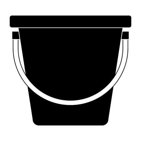 플라스틱 양동이 격리 된 아이콘 벡터 일러스트 레이 션 디자인 스톡 콘텐츠 - 91870908