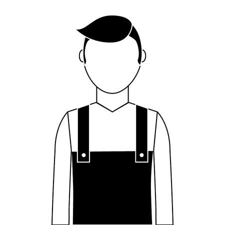 정원사 아바타 캐릭터 아이콘 벡터 일러스트 디자인 스톡 콘텐츠 - 91871085