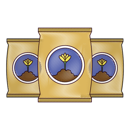 A fertilizer bags isolated icon vector illustration design  イラスト・ベクター素材