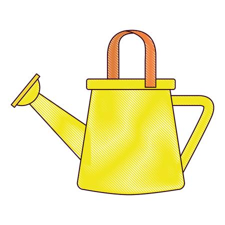Ontwerp van de het pictogram vectorillustratie van de tuinman het plastic sproeier Stock Illustratie