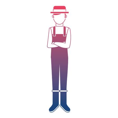 Gardener avatar character icon vector illustration design