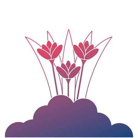 美しい花栽培アイコンベクトルイラストデザイン