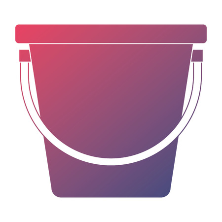 Plastic bucket isolated icon vector illustration design