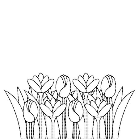 beautiful flowers cultivated icon vector illustration design Ilustrace