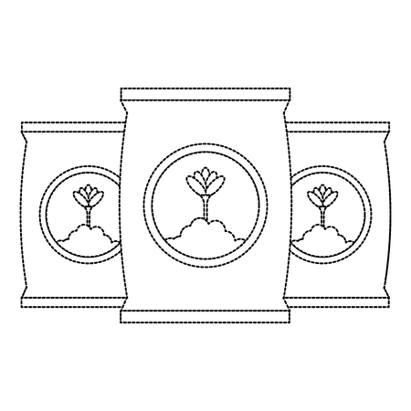 Progettazione dell'illustrazione di vettore dell'icona isolata borse del fertilizzante Archivio Fotografico - 91883043