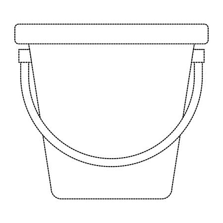 plastic emmer geïsoleerd pictogram vectorillustratieontwerp Stock Illustratie
