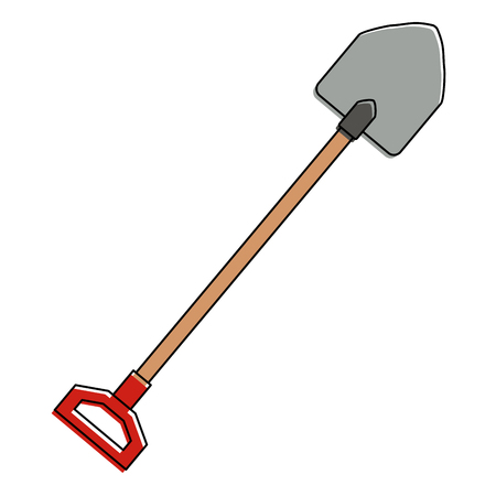 gardening shovel isolated icon vector illustration design
