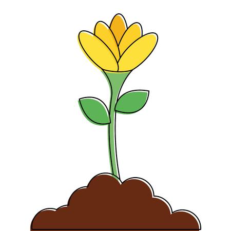 beautiful flower in grown vector illustration design Stok Fotoğraf - 91882889