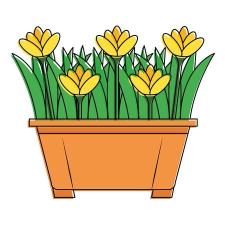 美しい花  イラスト・ベクター素材