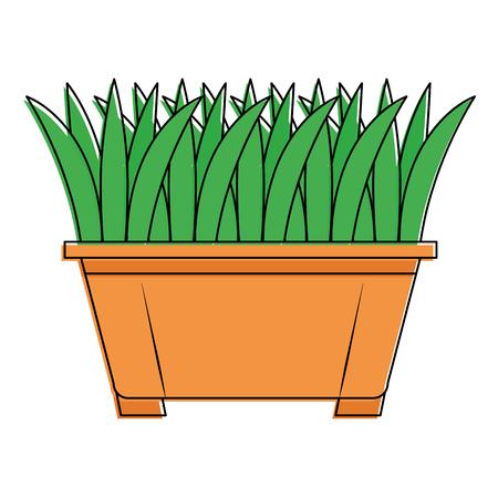 Grass in pot icon