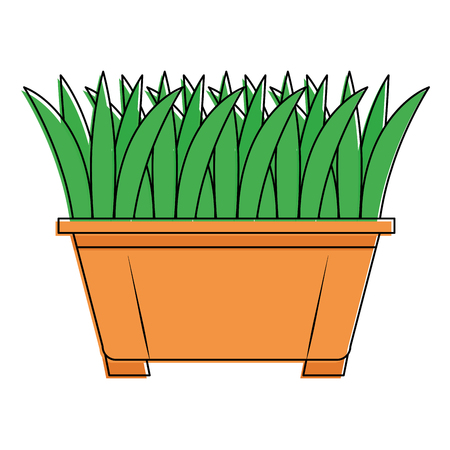 Grass in pot icon