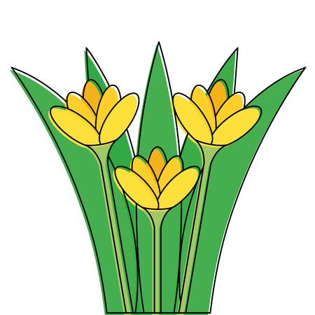 美しい花のアイコン  イラスト・ベクター素材