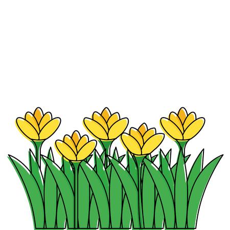 Beautiful flowers icon Illustration